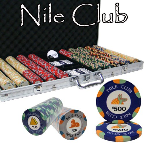 - 750 Ct Nile Club 10 Gram Ceramic Poker Chip Set