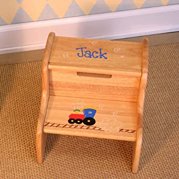 Remarkable Amazon Com Personalized Childrens Step Stool In Many Gmtry Best Dining Table And Chair Ideas Images Gmtryco