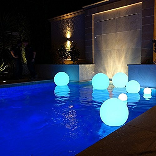 LED Ball Light IP68 Waterproof LED Pool Lights 16 RGB Colors LED Floating Light Rechargeable Remote Control LED Lights Outdoor 5.9-Inch Patio Lawn Decoration LED Ball Lights ¡