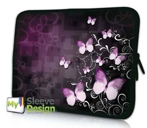 12.1' Case Laptop Carrying (MySleeveDesign 11 -12 Inch Notebook Sleeve Laptop Neoprene Soft Case Pouch Bag 11 / 11.6 / 12 Inch - SEVERAL DESIGNS & SIZES Available - Butterfly Fusion)