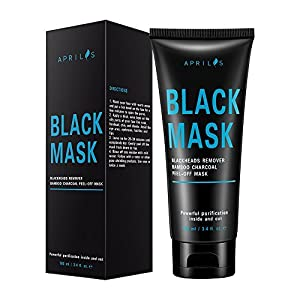 Blackhead Remover Mask, Peel off Mask with Bamboo Charcoal, Black Mask for Nose and Face Deep Pores Cleansing and Oil Control