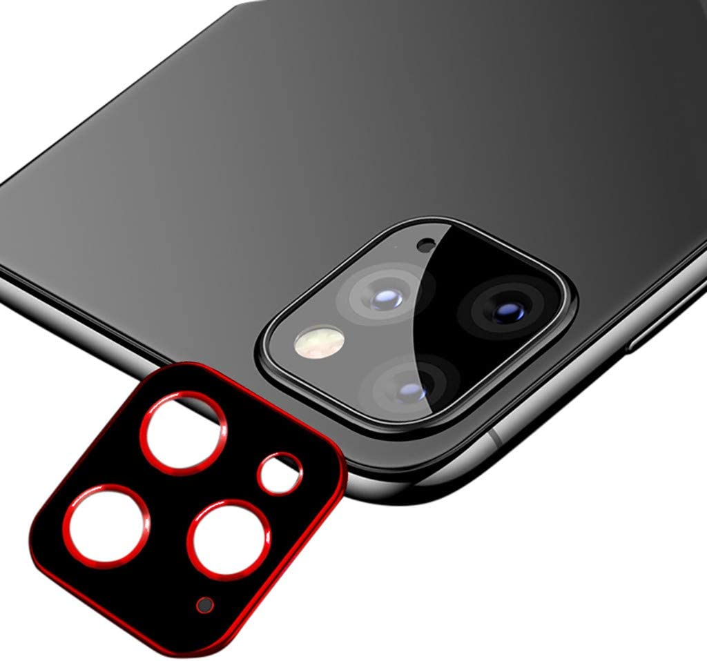 Gold Aluminun Metal Hardness Back Camera Screen Protector Anti Scratch Tempered Glass Camera Lens Ring Cover Film FunDiscount Compatible with iPhone 11 Pro Max//Pro Camera Lens Protector