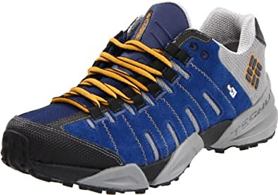 Columbia Men's Master Of Faster Low Outdry Ltr Trail Running Shoe,Estate Blue/ Golden Glow,9.5 M US