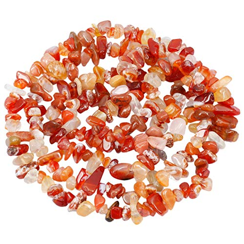 Nupuyai Chips Gemstone Loose Beads for Jewelry Making, Polishd Stone Beads Strands 33 inches, Carnelian ()