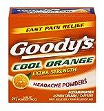 Goody's Extra Strength Headache Powders | Cool Orange | 24 Count | 2 Pack