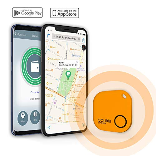 Colibri Tracker Smartphone Bluetooth Key Item Finder/Anti-Lost Signal/Itrack Easy app for iOS/Android to find Keys, Cars, Bag, Wallet, Baggage, Pets,...