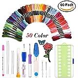 Ensemble de stylo de broderie magique KNITISS stylo à broder Punch Needle Kit Craft outil y compris 50 fils de couleur pour bricoleurs Threaders couture tricot