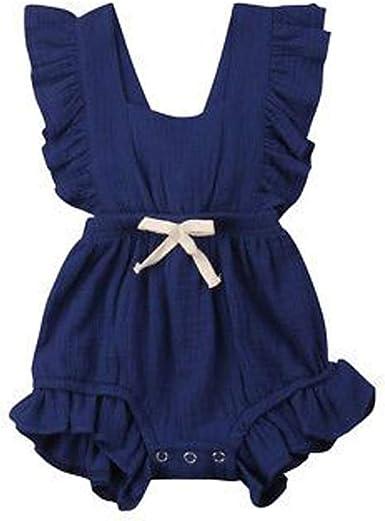Infant Baby Girl Dress Cotton Regular Sleeveless Dresses Casual Clothing 0-24 WD
