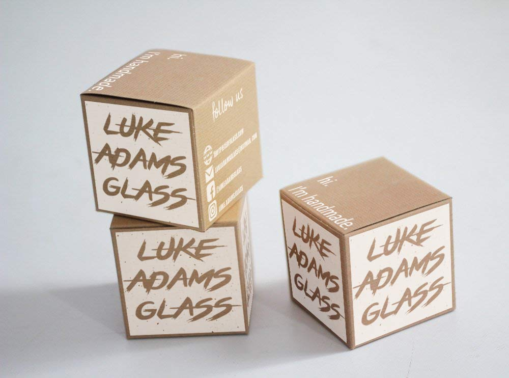 Luke Adams Glass Mini Wish Ball Pink Violet Teal - Adventure