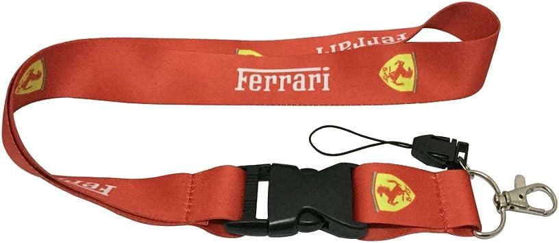 1pcs Black Color USA Ship New Quick Release Neck Strap Lanyard Keychain Keyring Car Keys House Keys ID Badges Card For Ferrari Design