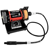New Mini Bench Grinder w/ Rotary Die Flex Shaft Buffer Sharpener Polisher Polish