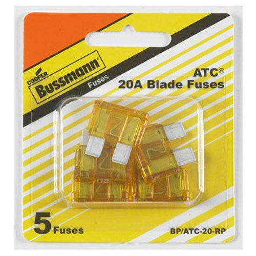 Bussmann (BP/ATC-20-RP) ATC Automotive Fuse, (Pack of 5) (Suzuki Samurai My Side Car compare prices)