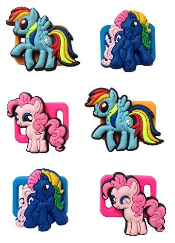 [Little Pony Shoelace Decoration Clips 6 Pcs] (Disney Tinker Bell Kids Sparkle Shoes)