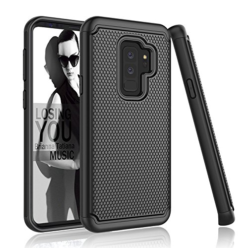 - Njjex Galaxy S9 Plus Case, For Samsung S9+ Case, [Nveins] Shock Absorbing Hybrid Dual Layers Rubber Plastic Shell Impact Armor Defender Bumper Rugged Hard Case Cover For Galaxy S9 Plus [Black]