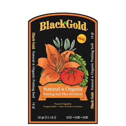 Black Gold SUGRBG16QT 1402040.Q16U Qt U 16 Quart All Organic Potting Soil