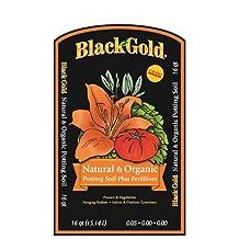 Sun Gro Black Gold 1302040 16-Quart All Organic Potting Soil