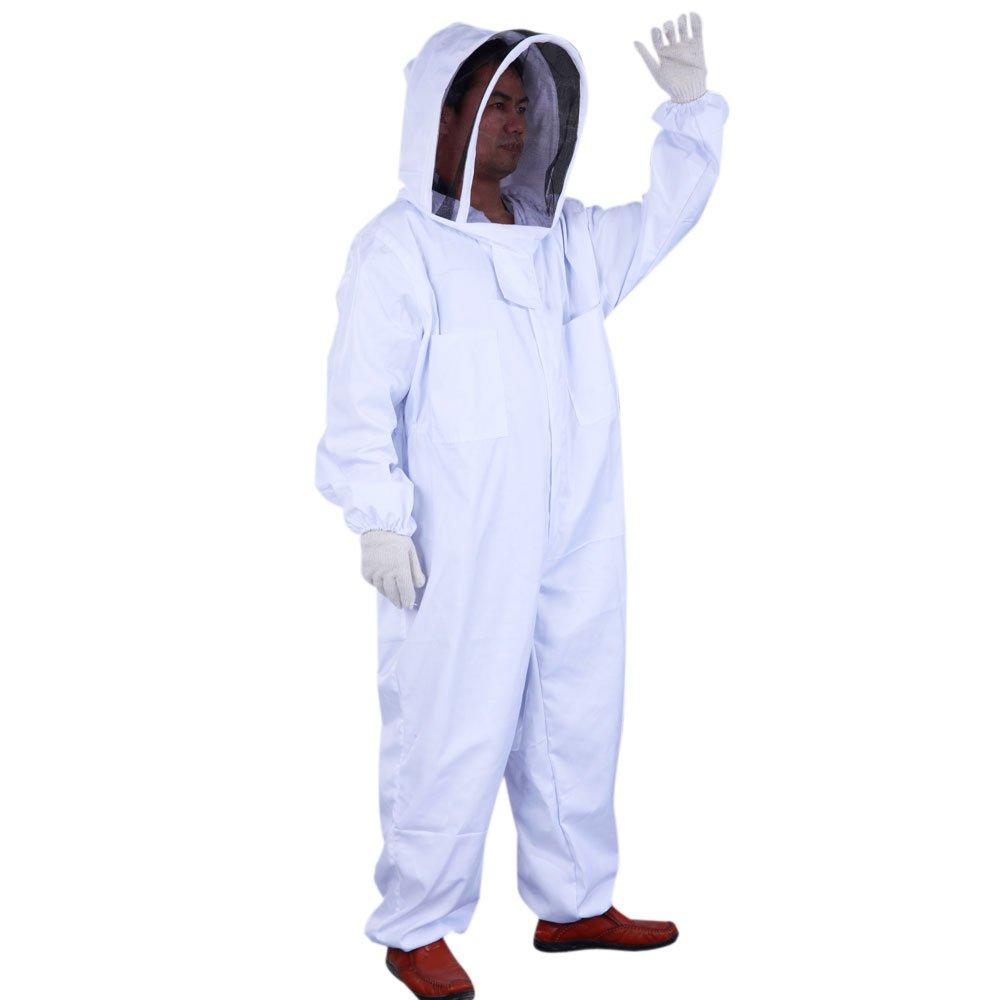 Mefeir Professional Beekeeping Beekeeper Full Body Suit Smock Pest Control Veil (XXL)
