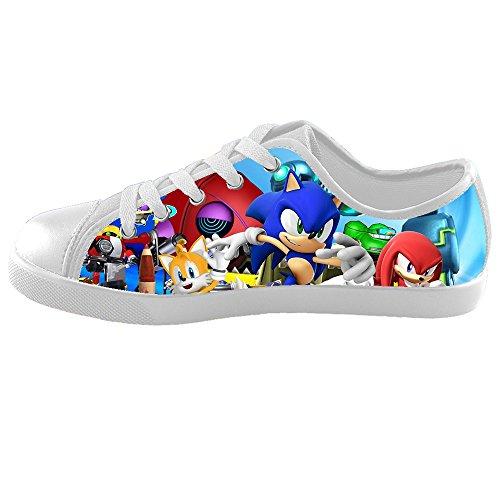 TD^^MM Custom Video games Sonic The Hedgehog Canvas Kid's Shoes (Sonic The Hedgehog Sneakers)