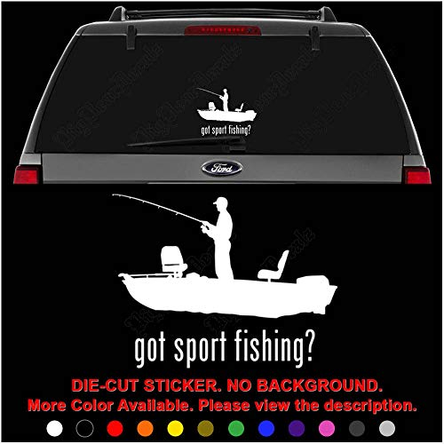 (Got Sport Fishing Boat Die Cut Vinyl Decal Sticker for Car Truck Motorcycle Vehicle Window Bumper Wall Decor Laptop Helmet Size- [6 inch] / [15 cm] Wide || Color- Gloss)