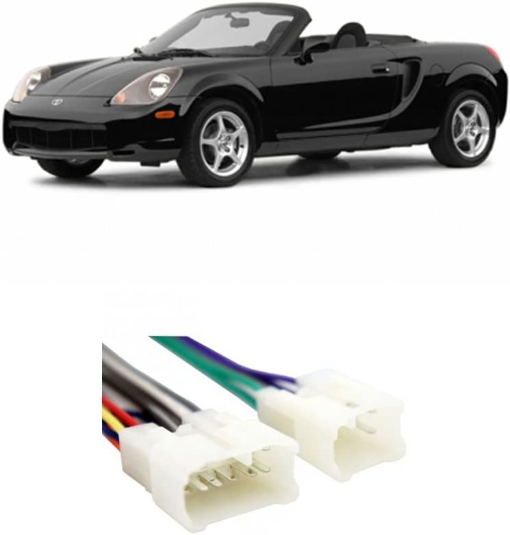 Compatible with Toyota MR2 Spyder 2000-2003 Factory Stereo to Aftermarket Radio Install Harness
