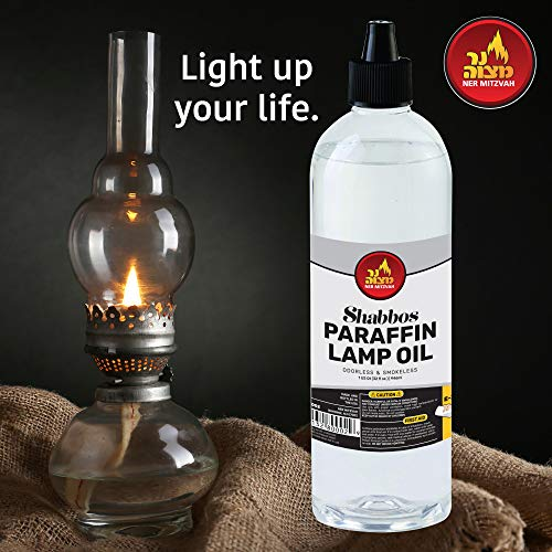 Paraffin Lamp Oil - Clear Smokeless, Odorless, Clean Burning Fuel for Indoor and Outdoor Use with E-Z Fill Cap and Pouring Spout - 32oz - by Ner Mitzvah by Ner Mitzvah (Image #5)