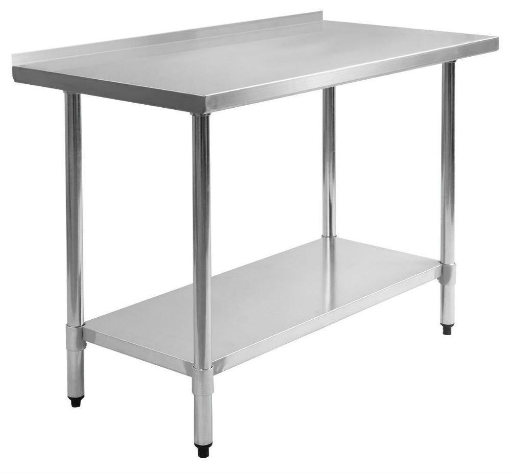 24'' x 48'' Stainless Steel Work Prep Table with Backsplash Kitchen Restaurant New