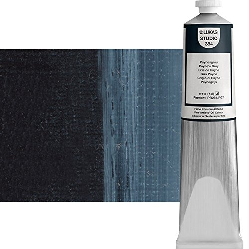 LUKAS Studio Professional Oil Color Paint High Pigment High Quality Professional Paint - 200 ml Tube - Payne's Grey