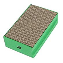 uxcell® Foam Grinding Dry Diamond Hand Polishing Pad Grit 60 Green