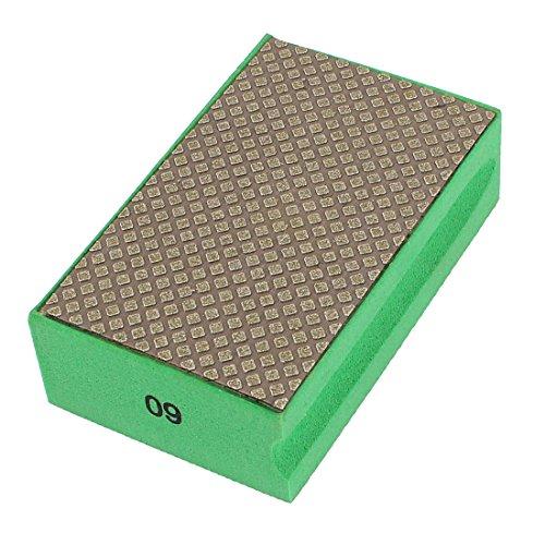 uxcell Foam Grinding Dry Diamond Hand Polishing Pad Grit 60 Green