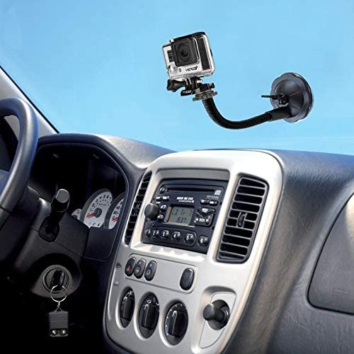 Car Suction Cup Mount Holder for GoPro New Hero //HERO6 //5//5 Session //4 Session //4//3 //3//2 //1 Xiaoyi and Other Action Cameras Reliable