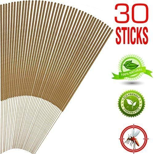 Mosquito Sticks, All Natural and DEET Free Insect Repellent, Eco Friendly, Non Toxic, Bamboo Infused with Citronella, Lemongrass & Grapefruit Peel, for Outdoor Garden Yard and Indoor (0)