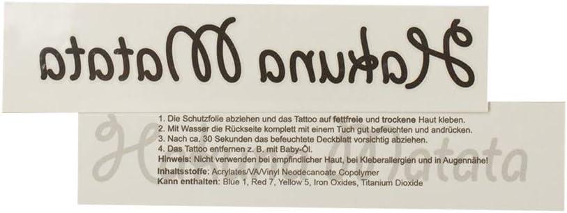 1 x Hakuna Matata Tattoo - Lettering in Black - Temporary Skin Tattoo (1)