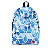 Laptop Backpack, Businda Printing Zipper Backpacks Fashion School Bags Casual Canvas Laptop Protective Rucksack for Kids Adults Boys Girls