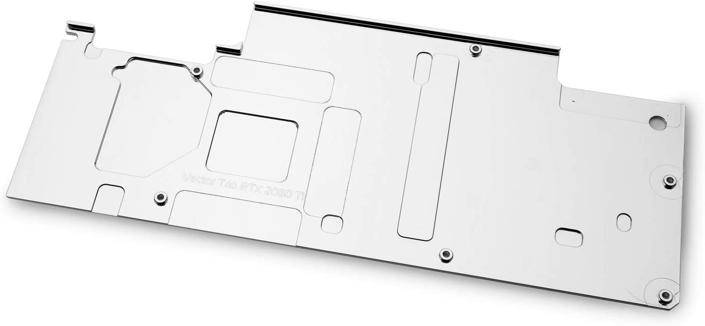 EKWB EK-Vector Trio RTX 2080 Ti RGB GPU Backplate, Nickel