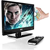 "Upgraded Premium 15.6"" 1080p LED TV, Multimedia Disc Player, Ultra HD TV, LED HiRes Widescreen Monitor w/ HDMI Cable RCA Input, LED TV Monitor, Audio Streaming, Mac PC, Stereo Speakers, Wall Mount"