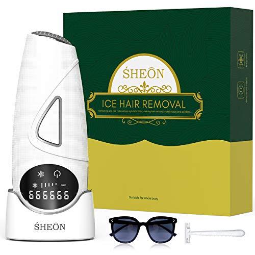 Sheon Dispositivo De Depilacion 999999 Ipl Flashes Depiladora De Luz Pulsada Profesional Definitivo 2 Modos Para Cuerpocarabikiniaxilas Depilacion Permanente