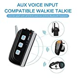EJEAS TTS Bluetooth Intercom Full Duplex Interphone 1200M 4 Riders Group Talking Simutaneously Motorcycle Helmet Interphone For Outdoor Sports Motorbike Skiing Camps Instant Communication Instead