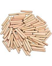 Houten plug 100 stks pluggen hout gecanneleerde deuvelspelden keperhout deuvels hout pluggen voor DIY ambachtelijke projecten timmerman Hobbyisten 6mm x 40mm