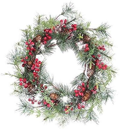 Christmas Wreath Decor Christmas Door Garland Pendant Door Window Garland - Colorful Christmas Wreath