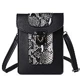VanGoddy Snake Skin Design Vertical Crossbody Bag Wallet carring case pouch for Samsung Galaxy Mega 2 3 / Galaxy S7 Edge / S6 Active / S6 Edge+ Plus / Galaxy J3 J5 J7 / Grand Prime (Black)