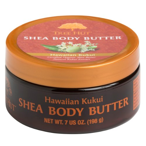 Tree Hut Shea Body Butter, Hawaiian Kukui, 7 Ounces (207ml) (Pack of - Nut Body Hawaiian Cream Kukui