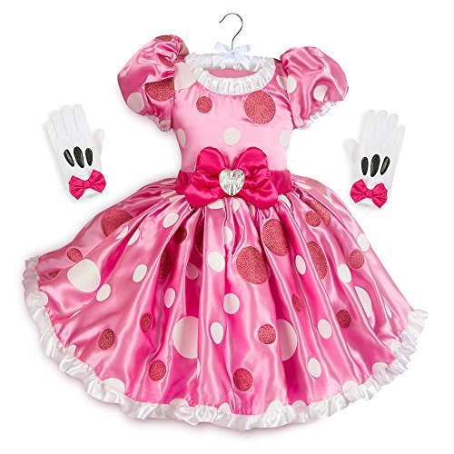 Disney Minnie Mouse Pink Dress Costume Kids Size 5/6 Pink -
