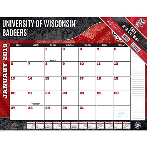 Turner 1 Sport Wisconsin Badgers 2019 22X17 Desk Calendar Office Desk Pad Calendar (19998061491)