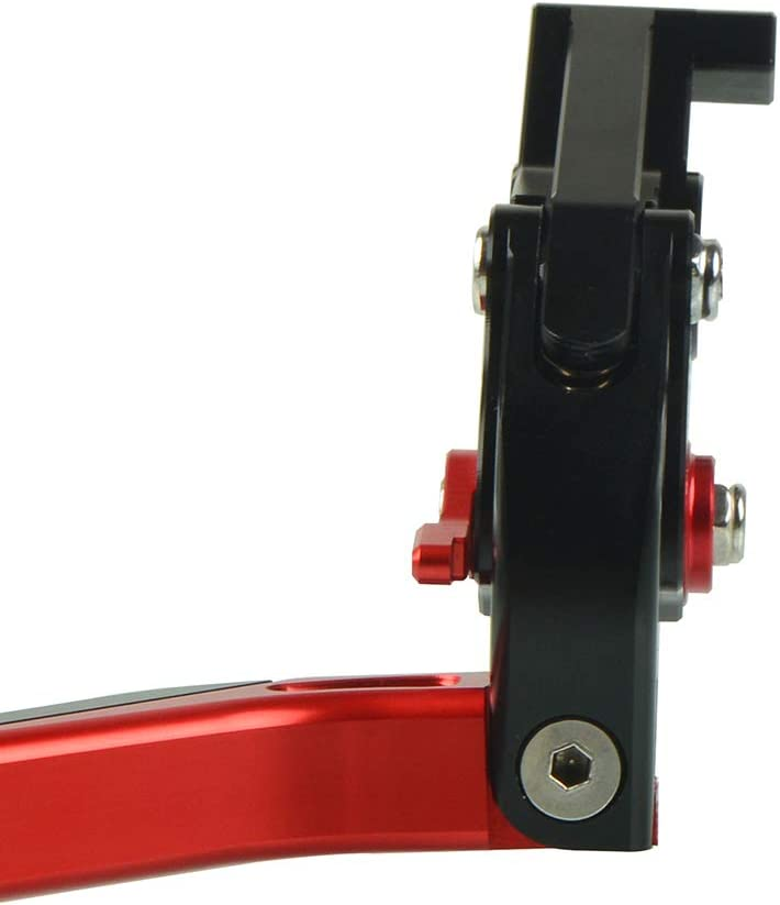 CB650R Motorrad Einstellbar Faltbar Brems Kupplungshebel CNC Aluminium Hebel f/ür Honda CBR650R CB650R 2018 2019 2020-Schwarz+Rot+Schwarz+Rot