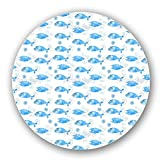 Uneekee Fantastic Fishes Lazy Susan: Large, Dark Wooden Turntable Kitchen Storage