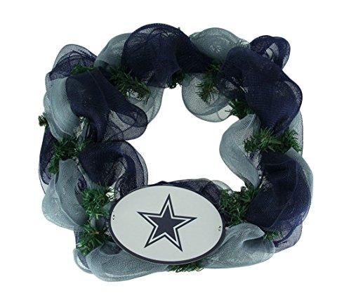 Nfl Wreath (Things2Die4 NFL Dallas Cowboys Logo Mesh Holiday Door Wreath)
