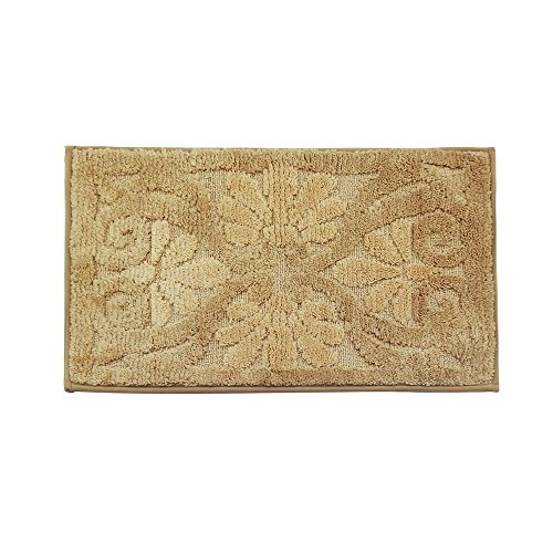 Soft Chenille Touch Circle Design Bathroom Bath Mat Rug