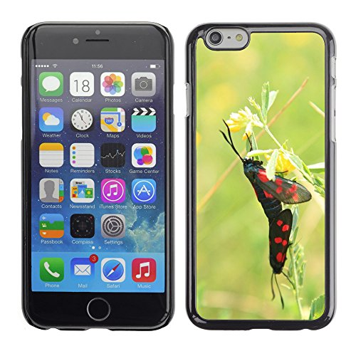 Bild Hart Handy Schwarz Schutz Case Cover Schale Etui // M00135655 Black Butterflies Schmetterling // Apple iPhone 6 PLUS 5.5""