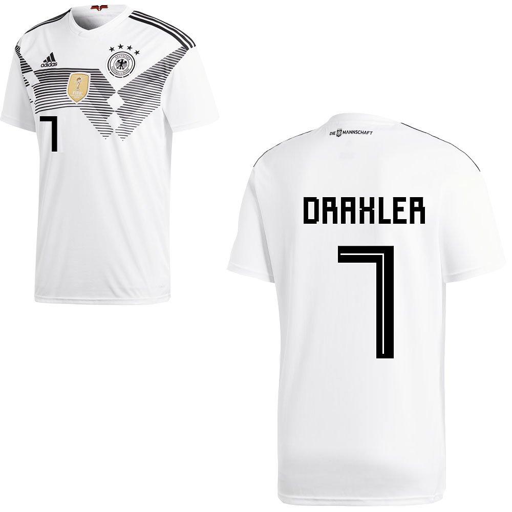 Fan sport24 DFB Germania Home Casa Casa Casa da calcio mondiali 2018 Uomo e Bambino con giocatori nome, Draxler, 176 | Forte calore e resistenza all'abrasione  | Conosciuto per la sua buona qualità  | eccellente  | modello di moda  | qualità regina  865081