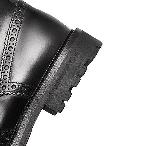 ANNIESHOE Motarde Fashion Plateforme Bottines Cuir Femme tqfxgrt